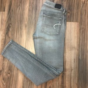 american eagle grey stretch jeans